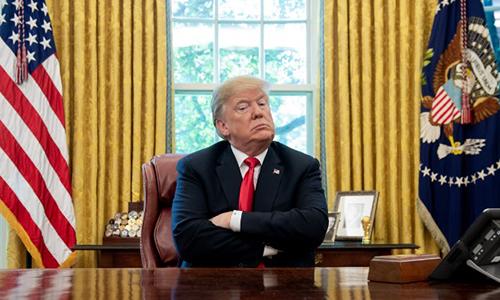 Tổng thống Mỹ Trump trong cuộc họp tại Nhà Trắng hồi tháng 10. Ảnh: AFP