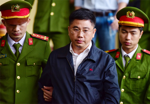 Nguyễn Văn Dương tại TAND tỉnh Phú Thọ trong tháng 11/2018. Ảnh: Giang Huy