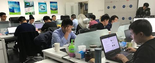 Các công ty Edtech Trung Quốc tập trung tại tòa nhà MOOC Times, Bắc Kinh.