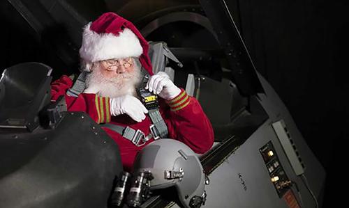 Quảng cáo chiến dịch theo dõi ông già Noel của NORAD. Ảnh: NORAD.