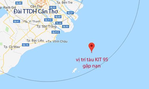 Vị trí tàu Mông Cổ gặp nạn. Ảnh: Vishipel.