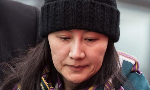 Giám đốc tài chính Huawei Mạnh Vãn Chu sau khi được tòa án Canada cho tại ngoại. Ảnh: AFP.