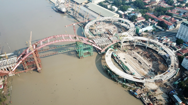 Cầu vòm thép 'cánh chim biển' hơn 2.000 tỷ ở Hải Phòng