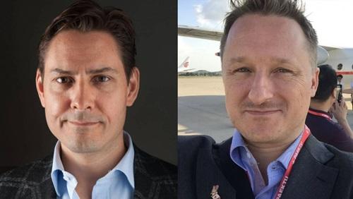 Michael Kovrig và Michael Spavor, hai công dân Canada bị Trung Quốc bắt giam. Ảnh: Twitter.