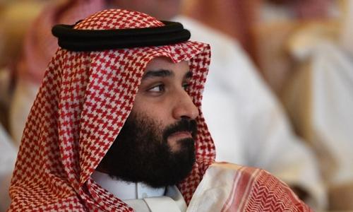 Thái tử Arab Saudi Mohammed bin Salman tại hội nghị về đầu tư ở Riyadh hồi tháng 10. Ảnh: AFP.
