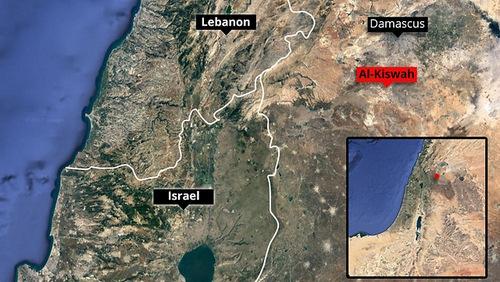 Vị trí của Damascus. Đồ họa: Ynet News.