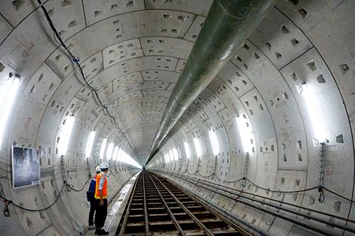 Đoạn hầm metro đã hoàn tất phía Ba Son - khác công trình vừa bị kết luận sai phạm. Ảnh: Hữu Công.