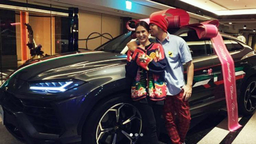 Ảnh chụp Châu Kiệt Luân và vợ được nam ca sĩ đăng trên Instagram.