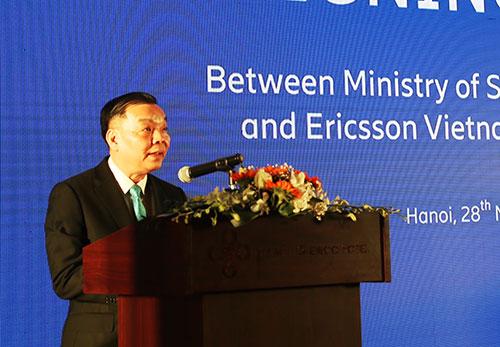 Bộ trưởng Chu Ngọc Anh phát biểu tại sự kiện. Ảnh: MH.
