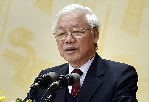 Tổng bí thư Nguyễn Phú Trọng phát biểu tại hội nghị Chính phủ với các địa phương. Ảnh: VGP