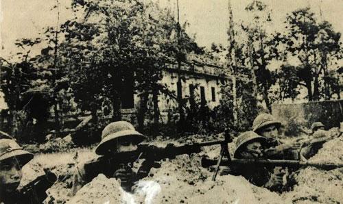 Đại đội 9 (Tiểu đoàn 9, Trung đoàn 18) phòng ngự tại chùa Xà Xía, Hà Tiên, Kiên Giang tháng 7/1978. Ảnh: Báo Quân đội nhân dân.