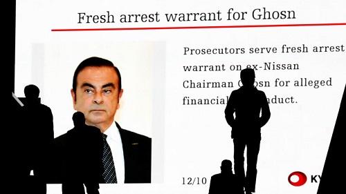 Carlos Ghosn bị bắt vì cáo buộc tài chính.