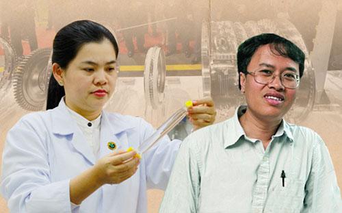 TS Nguyễn Thị Hiệp (trái) và GS Đàm Thanh Sơn (phải).