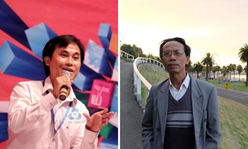 GS Phan Thanh Sơn Nam (trái) và PGS Nguyễn Sum.