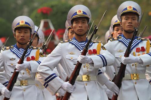 Đội tiêu binh của QĐND VN. Ảnh: Võ Thành