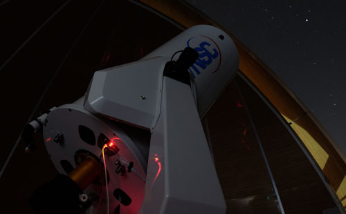 Kính thiên văn quang học đường kính 0,5 m được đánh giá là hiện đại.Đài thiên văn Stará Lesná, Viện thiên văn, Viện Hàn lâm Khoa học Slovakia cũng đang sử dụng kính này. Ảnh: Phạm Việt Dũng.