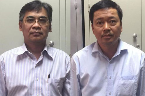 Mr. Nghia (left) and Mr. Huy were arrested.