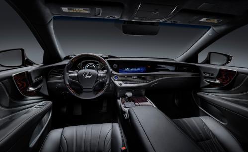 Khoang lái trên Lexus LS 2019.