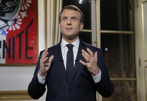 Tổng thống Pháp Emmanuel Macron tại Paris ngày 31/12. Ảnh: AFP.