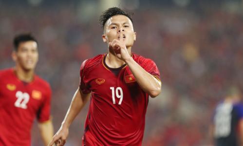 Nguyễn Quang Hảimừng bàn thắng vào lưới Philippines ở trận bán kết lượt về AFF Cup 2018. Ảnh: Đức Đồng