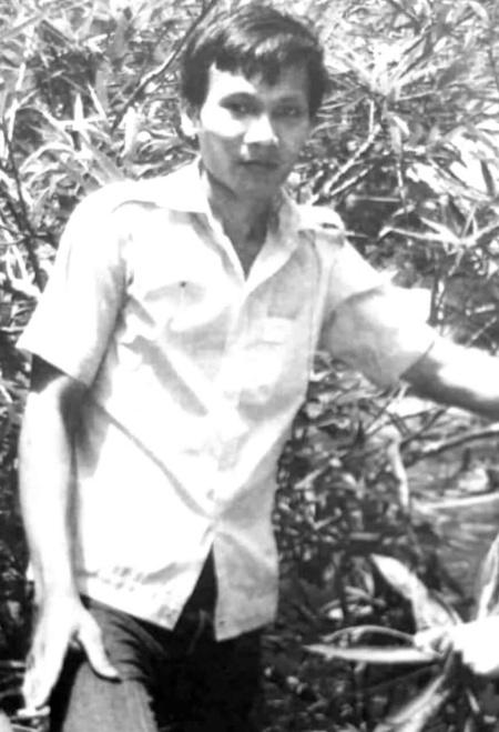 Chàng thanh niên Thái Bá Y ở Ninh Thuận năm 1985, trước khi lên đường sang Campuchia. Ảnh: NVCC.