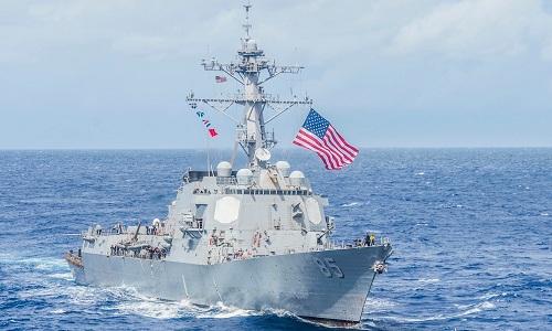 Tàu khu trục USS McCampbell của hải quân Mỹ. Ảnh:Business Insider.