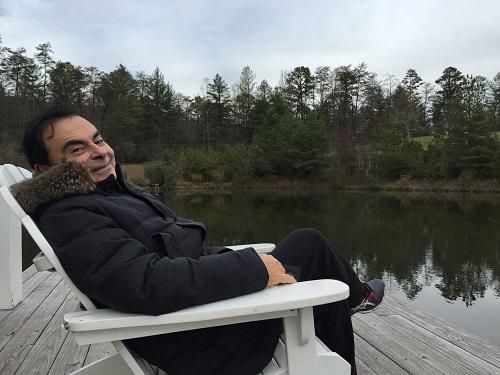 Carlos Ghosn trong một kỳ nghỉ.