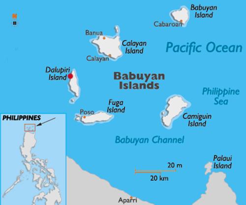 Vị trí đảo Dalupiri, Philippines. Đồ họa: World Atlas