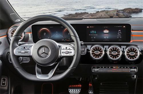 Hệ thống thông tin giải trí MBUX với tùy chọn màn hình 10,3 inch trên Mercedes CLA 2019.