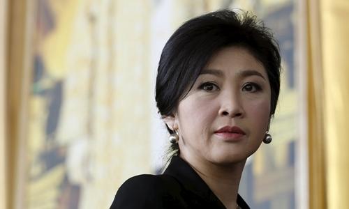 Yingluck tại Bangkok tháng 9/2015. Ảnh: Reuters.
