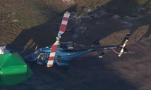 Chiếc trực thăng tại hiện trường. Ảnh: ABC News.