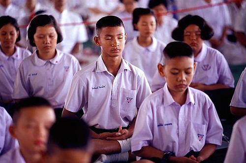 Đồng phục điển hình của học sinh Thái Lan. Ảnh: WikiCommmons