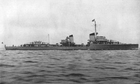 Khu trục hạm Z1 Leberecht Maass của Đức Quốc xã. Ảnh: SZ.