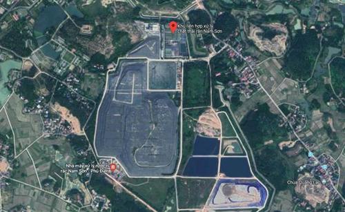 Khu liên hiệp xử lý chất thải Nam Sơn có diện tích khoảng 83 ha.