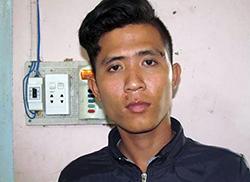 Phan Văn Giàu tại cơ quan điều tra. Ảnh: Công an An Giang