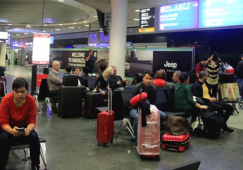 Sân bay Frankfurt (Đức). Ảnh: Đoàn Loan