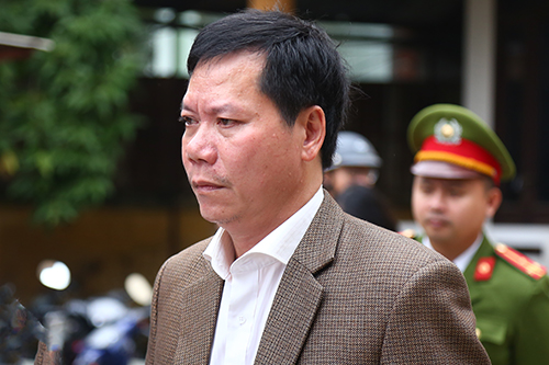 Bị cáo Trương Quý Dương tại tòa án trong sáng 15/1. Ảnh: Phạm Dự