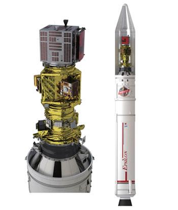 Tên lửa Epsilon số 4 mang theo 7 vệ tinh thử nghiệm công nghệ sẵn sàng vào quỹ đạo. Ảnh: Jaxa.