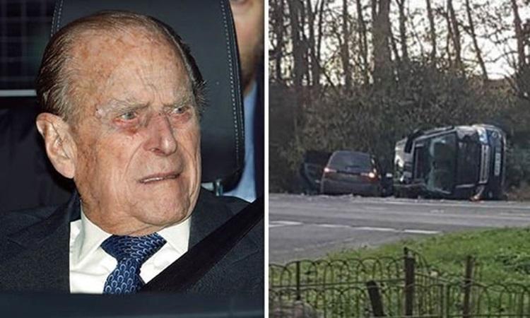 Hoàng thân Anh Philip ''sốc và sợ hãi'' sau tai nạn khiến ôtô bị lật -