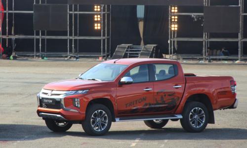 Mitsubishi Triton 2019 trong lần ra mắt chiều 18/1 tại TP HCM.
