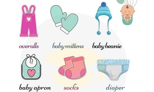Từ vựng chỉ quần áo trẻ con trong tiếng Anh