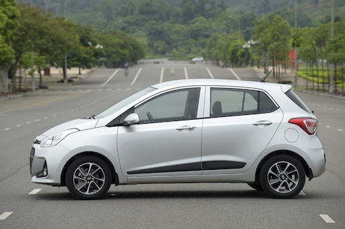 Hyundai i10 bản lắp ráp trong nước. Ảnh: Thắng Trần.