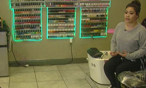 Sabrina Nguyễn nói chuyện với phóng viên của đài ABC 4 tại Salt Lake City, Mỹ. Ảnh: ABC 4.
