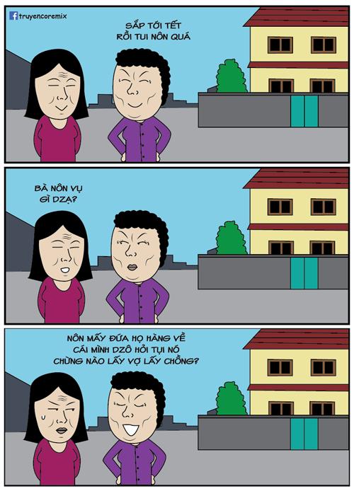 Lý do bà hàng xóm nôn đến Tết