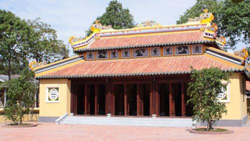 Đền thờ nhà giáo Võ Trường Toản. Ảnh: Sở Văn hóa, Thể thao và Du lịch Bến Tre.