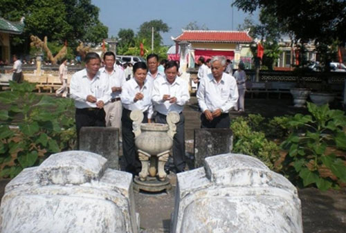 Khu mộ cụ Võ Trường Toản ở huyện Ba Tri, Bến Tre ngày nay. Ảnh: Sở Văn hóa, Thể thao và Du lịch Bến Tre.