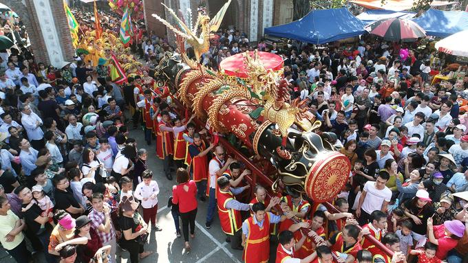 [ẢNH] Lễ hội rước pháo khổng lồ ở làng Đồng Kỵ - 3