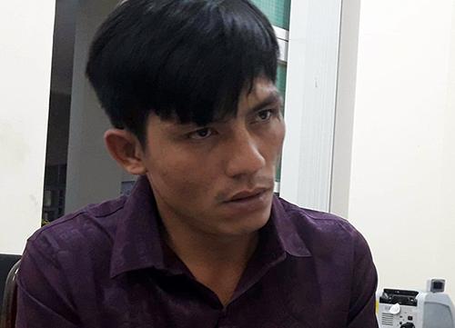 Hoàng Nam tại cơ quan điều tra. Ảnh: Thái Hà