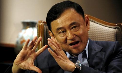 Thaksin tại Singapore tháng 2/2016. Ảnh:Reuters.