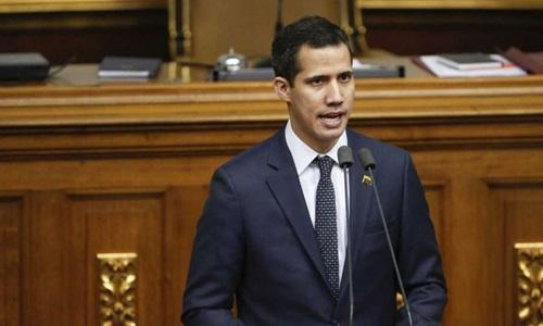 Tổng thống tự phong Venezuela uan Guaido. Ảnh: Bloomberg.